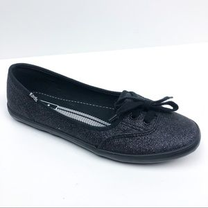 Keds Teacup Glitter Slip-on Shoe Black